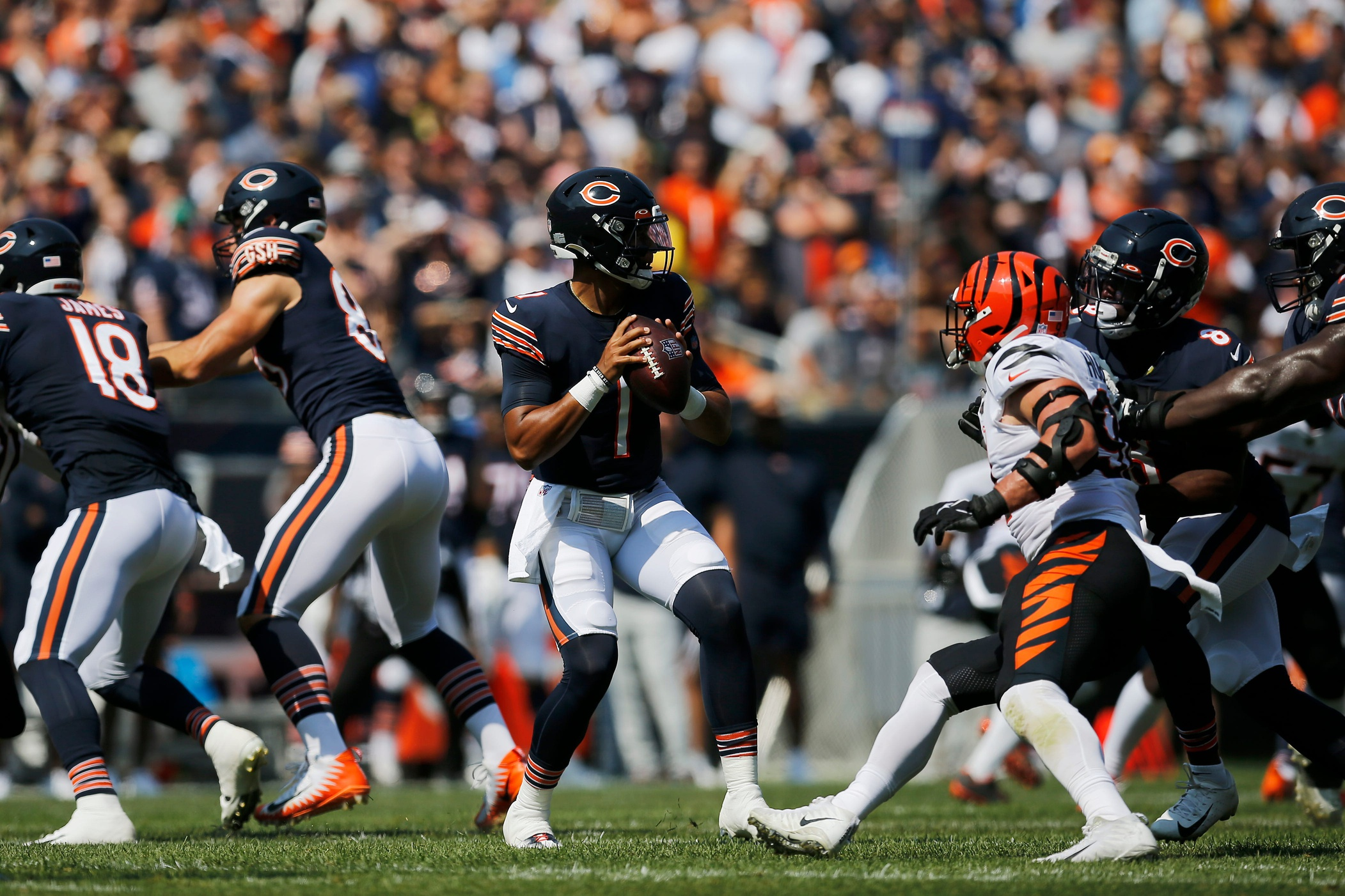 Fields replaces Dalton, leads Bears to win over Bengals